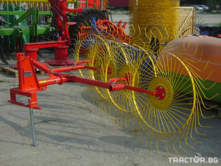Сенообръщачки Внос Сеносъбирач с 4 -5 работни органа. Специална пакетна цена при закупуване на косачка 165 см и сеносъбирач с 4 работни органа! 7 - Трактор БГ
