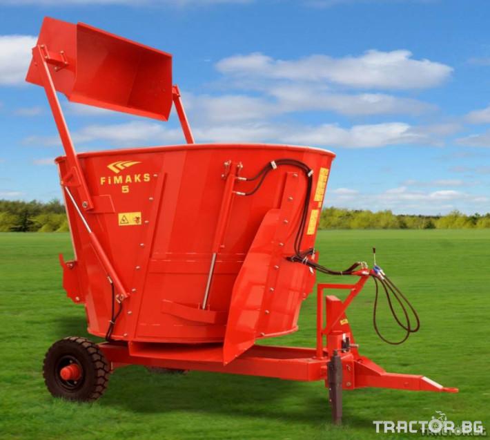 Машини за ферми МИКСЕР ВЕРТИАЛЕН 5т за фураж FMV 5 0 - Трактор БГ