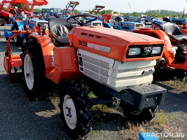 Трактори Kubota B 1500- 4x4 с фреза 0 - Трактор БГ