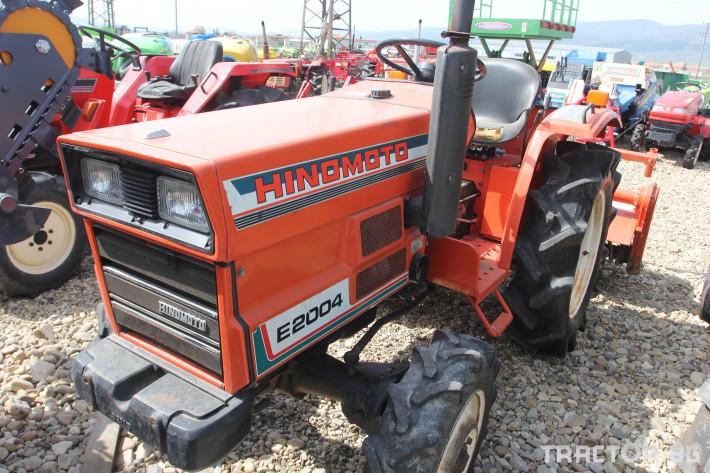 Трактори Hinomoto E 2004 с фреза 1
