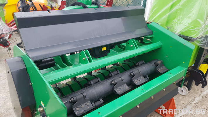 Машини за лозя / овошки Geo-Italy МУЛЧЕР РАЗДРОБИТЕЛ НА КЛОНИ ДВУРОТОРЕН 12 - Трактор БГ
