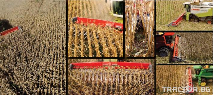 Хедери за жътва Универсален безредов хедер за междуредияот 35 см до 90 см за жътва на царевица във всички посоки! 4