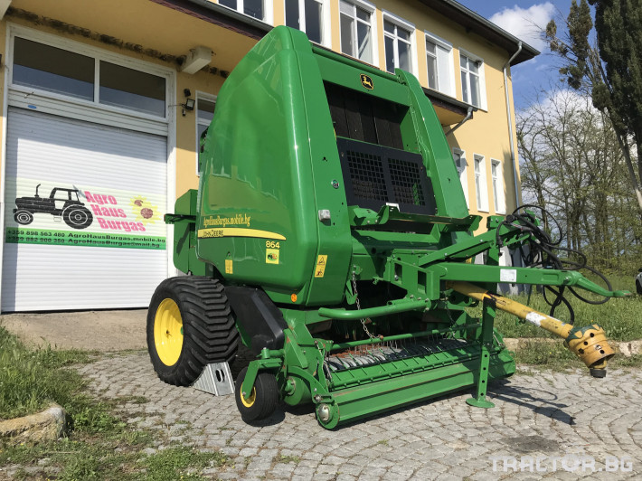 Сламопреси John-Deere 864 MAXI CUT + COVER EDGE ЛИЗИНГ 0 - Трактор БГ