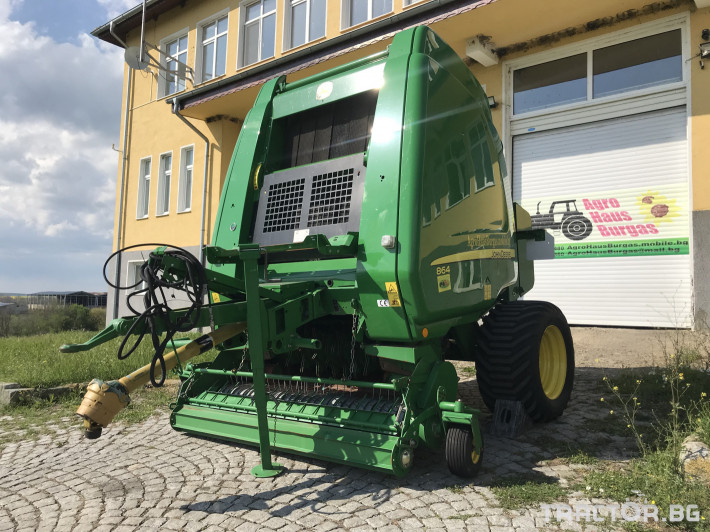 Сламопреси John-Deere 864 MAXI CUT + COVER EDGE ЛИЗИНГ 1 - Трактор БГ