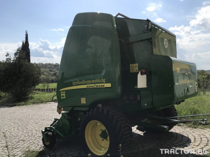Сламопреси John-Deere 864 MAXI CUT + COVER EDGE ЛИЗИНГ 3 - Трактор БГ