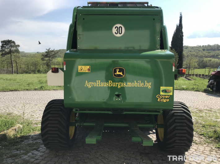 Сламопреси John-Deere 864 MAXI CUT + COVER EDGE ЛИЗИНГ 5 - Трактор БГ