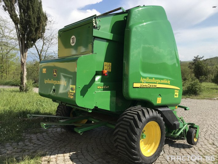 Сламопреси John-Deere 864 MAXI CUT + COVER EDGE ЛИЗИНГ 7 - Трактор БГ