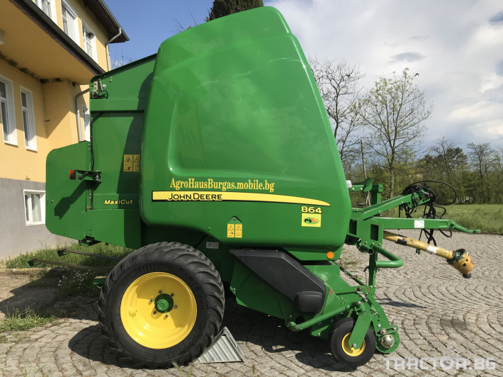 Сламопреси John-Deere 864 MAXI CUT + COVER EDGE ЛИЗИНГ 8 - Трактор БГ