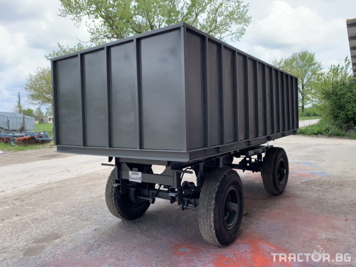 Ремаркета и цистерни SIP Ремарке за трактор с чисто нов кош 2