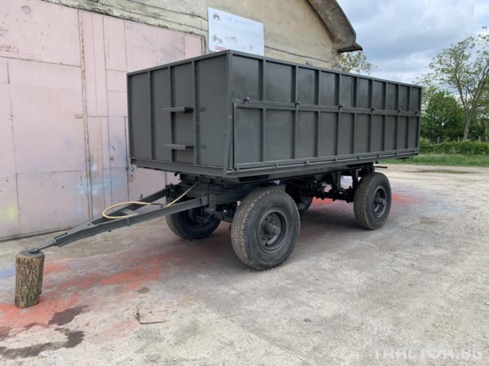 Ремаркета и цистерни SIP Ремарке за трактор с чисто нов кош 6