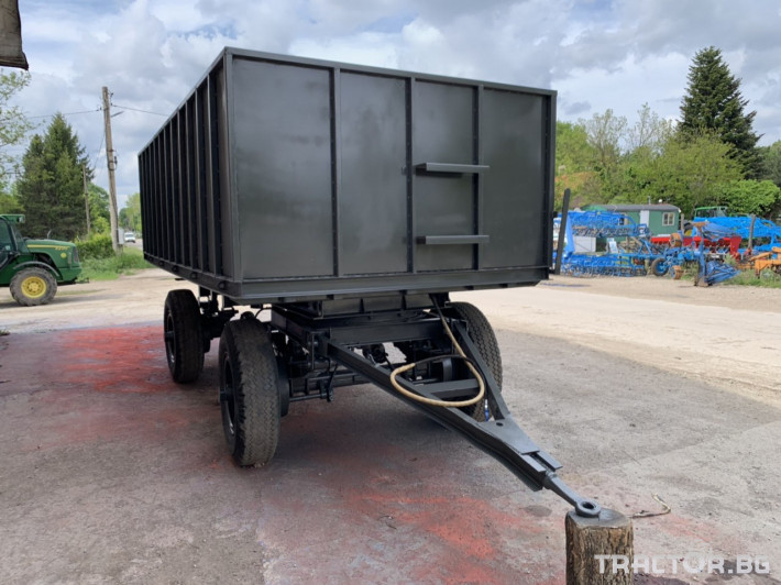 Ремаркета и цистерни Ремарке за трактор с чисто нов кош 4 - Трактор БГ