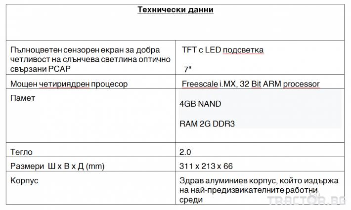 Прецизно земеделие Оборудване за анализи Навигационна дисплейна система CCPilot 2 - Трактор БГ