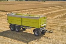 Самосвално ремарке Флигел с тристранно разтоварване триосно 24 тона - Трактор БГ